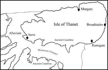 Map of The Isle of Thanet
