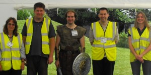The Trust team for Dig and Discover at Bradstow School  Dig for Two Days