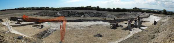 Panoramic view of the excavation area