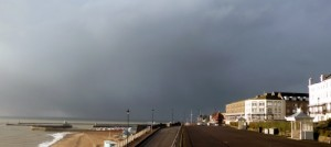 Storm clouds over Ramsgate