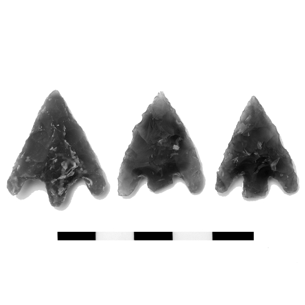 Three arrowheads associated with the Beaker at Margate