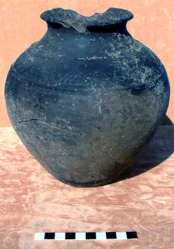 Locally made pottery Jar, encapsulating the transition from Iron Age to Roman culture