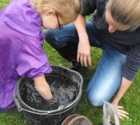 Giving an environmental sample a swirl