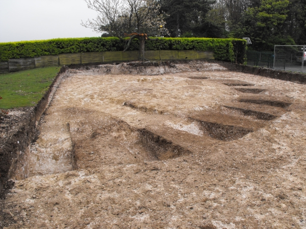 Excavated round barrow at Bradstow school, Broadstairs